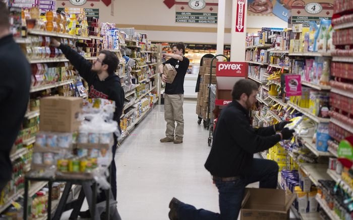 free heating and air system for grocery store workers